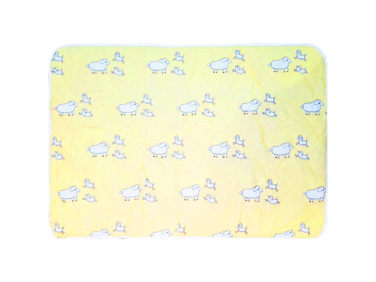 Bērnu kokvilnas segas un spilvena komplekts RLB04 ar 100% aitas vilnas pildījumu