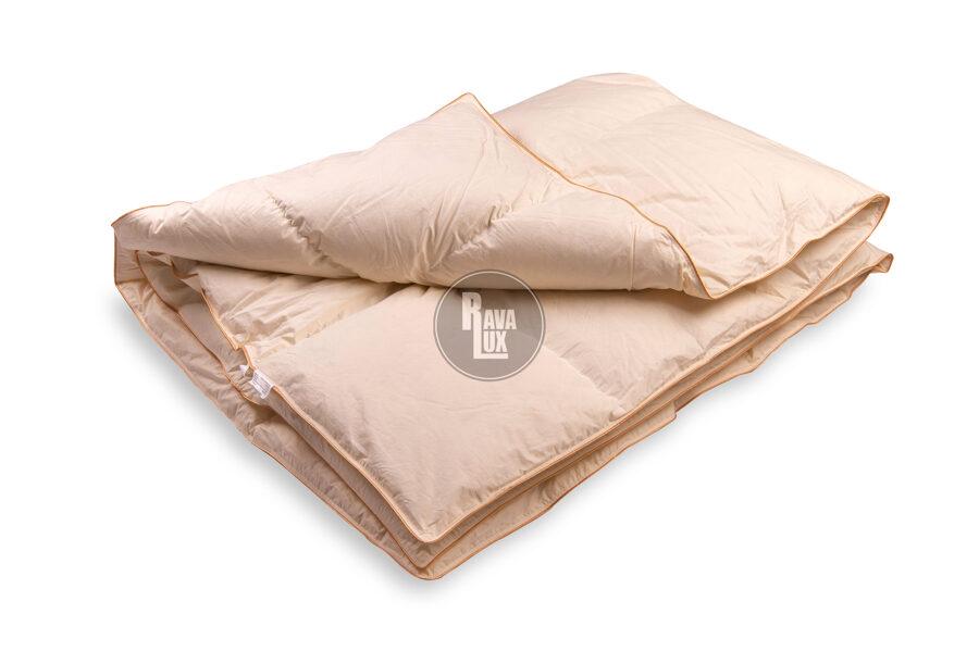 Premium naturāla dūnu sega 220x205cm RL51 ar 1.5KG 90% zosu dūnu pildījumu bešā