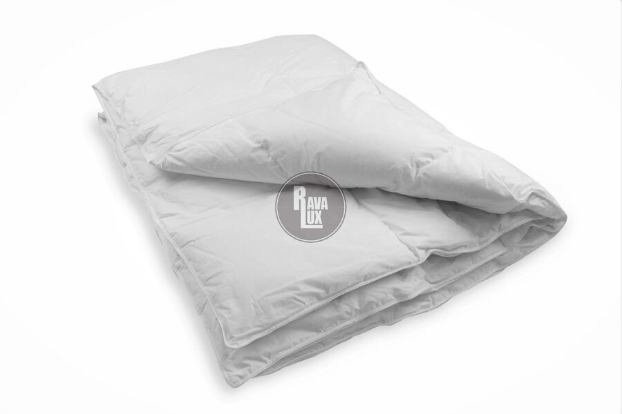 Premium naturāla dūnu sega 220x240cm RL84 ar 1.7KG 90% zosu dūnu pildījumu baltā