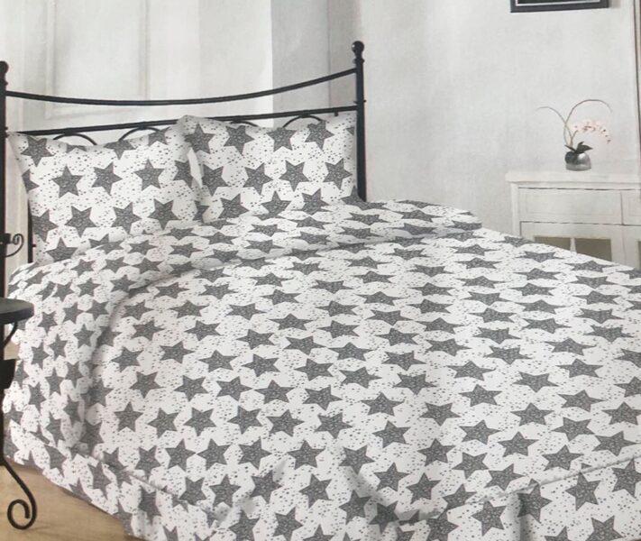Premium kokvilnas ģimenes gultas veļas komplekts 2gab. 150x200cm no 5 daļam RLV01