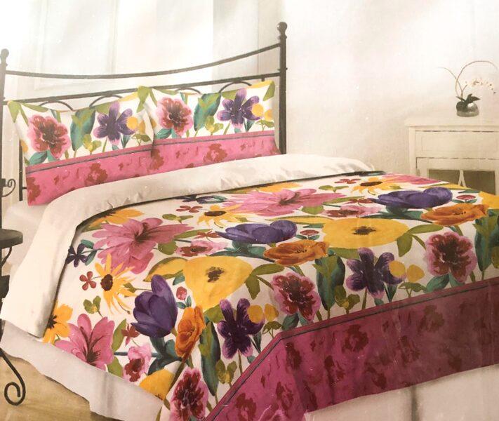 Premium kokvilnas gultas veļas komplekts 200x220cm no 4 daļam RLV02