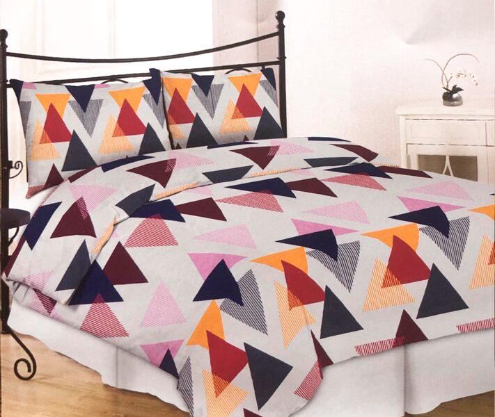 Premium kokvilnas gultas veļas komplekts 200x200cm no 4 daļam RLV03