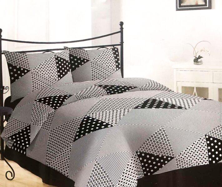 Premium kokvilnas gultas veļas komplekts 200x220cm no 4 daļam RLV04