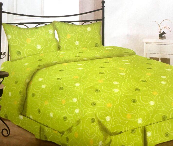 Premium kokvilnas ģimenes gultas veļas komplekts 2gab. 150x200cm no 5 daļam RLV07