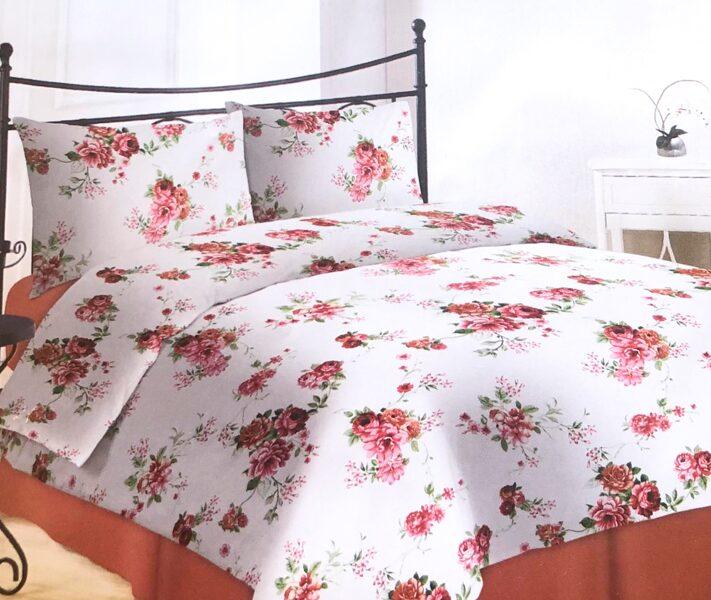Premium kokvilnas ģimenes gultas veļas komplekts 2gab. 150x200cm no 5 daļam RLV08