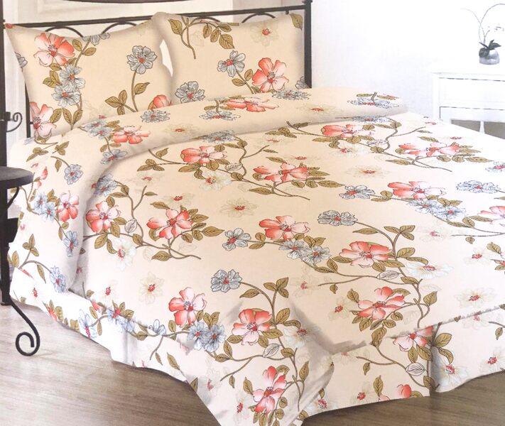 Premium kokvilnas gultas veļas komplekts 200x200cm no 4 daļam RLV11