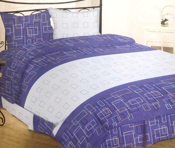 Premium kokvilnas ģimenes gultas veļas komplekts 2gab. 150x200cm no 5 daļam RLV12
