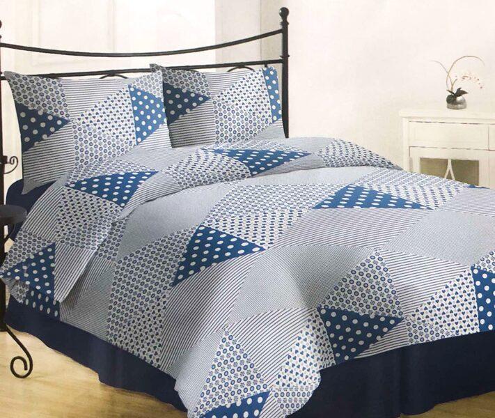 Premium kokvilnas ģimenes gultas veļas komplekts 2gab. 150x200cm no 5 daļam RLV13